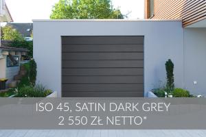Brama garażowa Satin Dark Grey