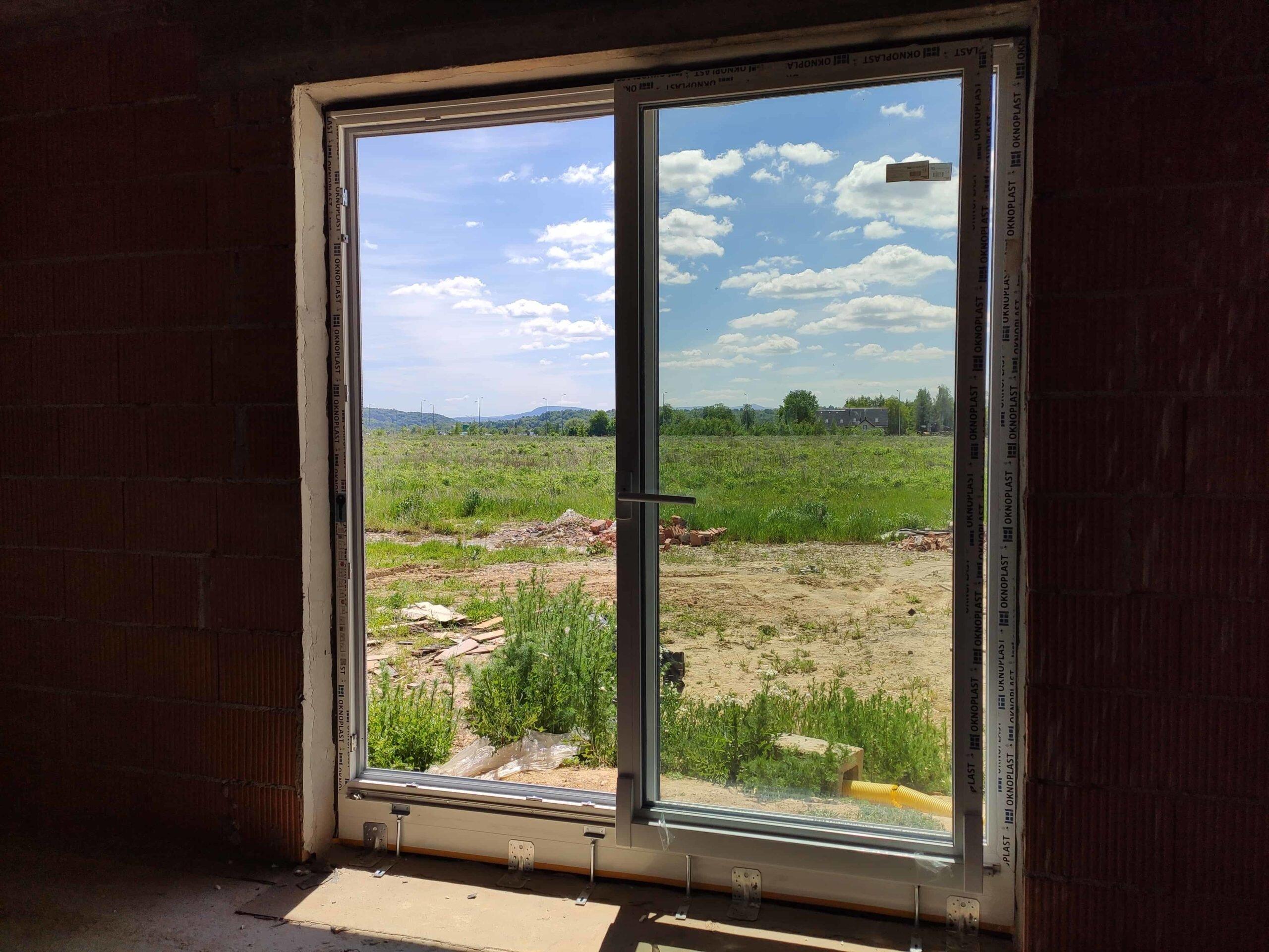 Okna Winergetic Standard - silbergrau gładki